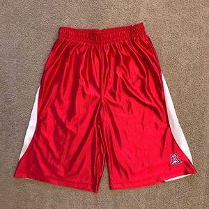 Arizona Wildcats Boys Red Satin Basketball Shorts